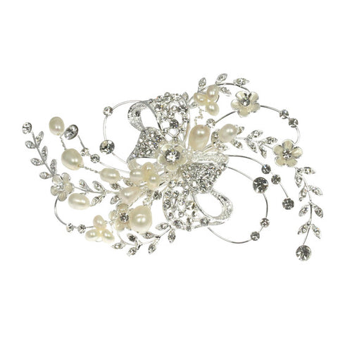 Vintage style Pearl and Diamante Hair Clip