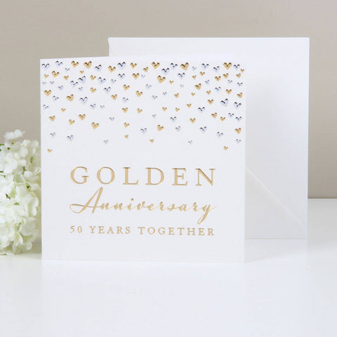 Amore Deluxe Card - Anniversary - Golden