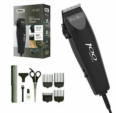 Wahl 100 Series-10 Piece Hair Cutting Kit Mains Clipper Trimmer Kit