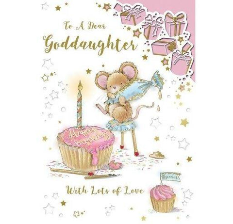 God Daughter Happy Birthday Card