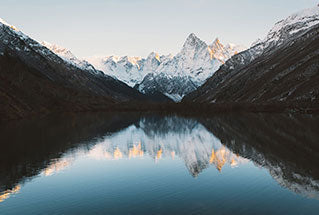 image of a tranquil mountain lake