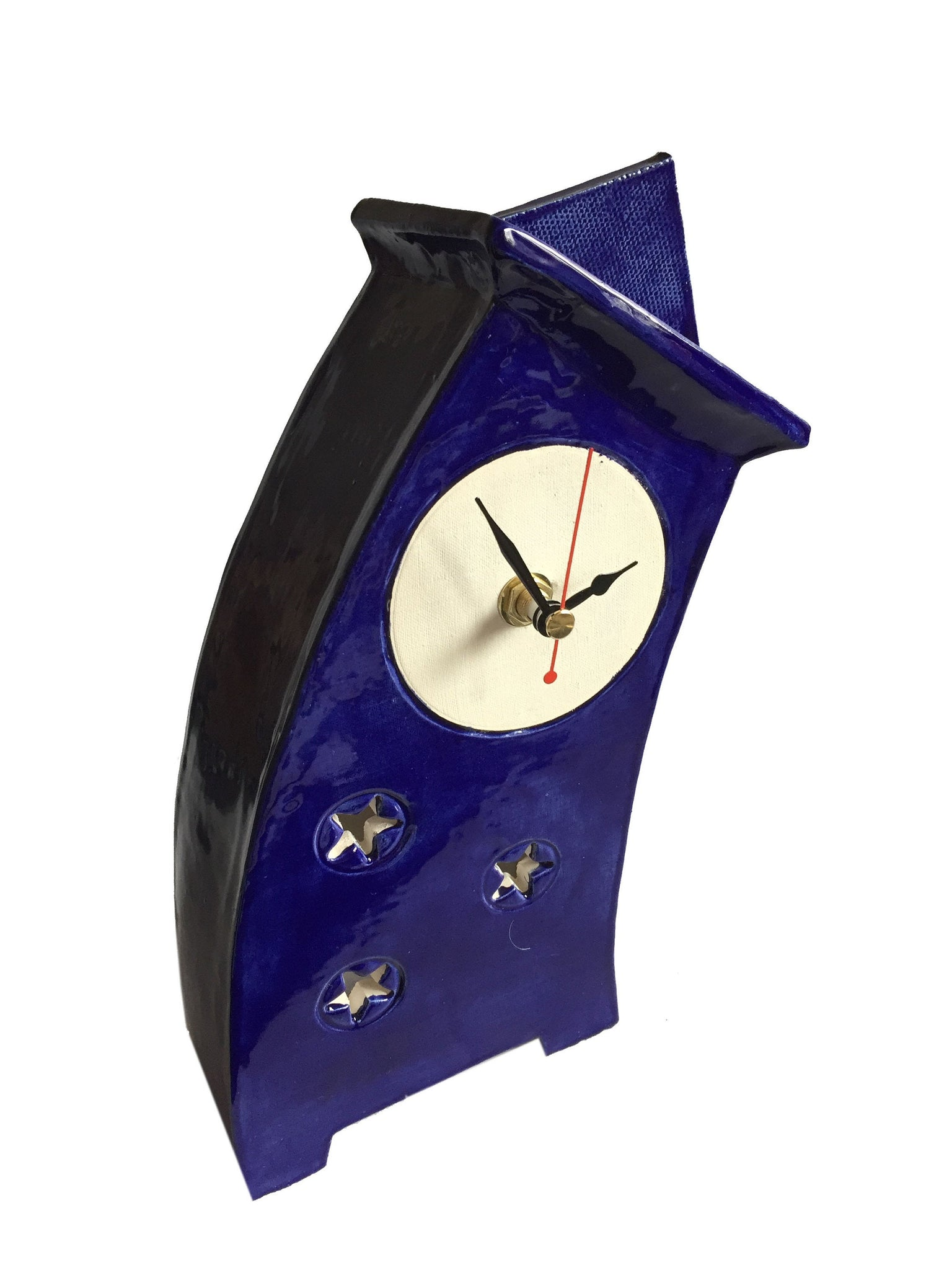 Tabletop Clock, Mantel Clock, Shelf Clock, Wonky Clock - PeterBowenArt