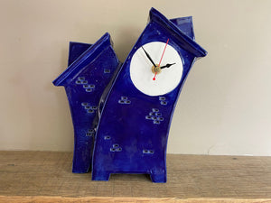 Ceramic Clock, Tabletop Clock, Shelf Clock, Double Clock - PeterBowenArt