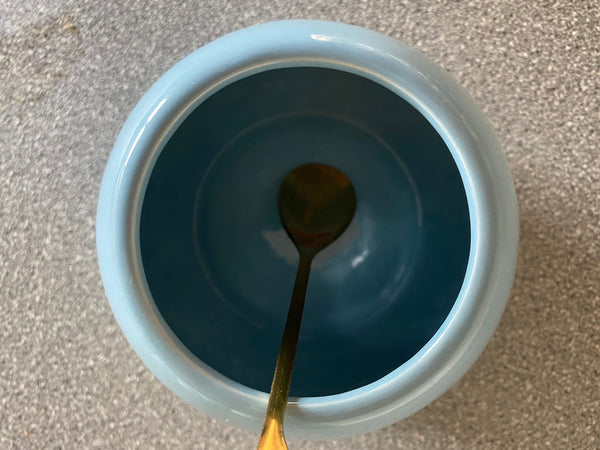 Sugar Bowl Powder Blue Glaze - PeterBowenArt