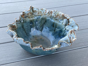 Pottery Fruit Bowl with Creative Glazes - PeterBowenArt