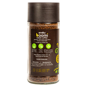 Araku Boomi Instant Coffee. 100% Pure Coffee. 3.5oz (100 grams). Made from award winning Araku valley beans. Tastes like a filter coffee.