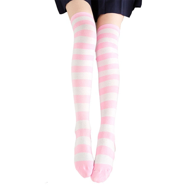 Adorable Anime Tight High Over Knee Cotton Stocking