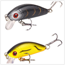 Load image into Gallery viewer, 1PCS Minnow Fishing Lure 50mm4.2g Topwater Hard Bait Wobbler Jig Bait Crankbait Carp Striped bass Pesca Fishing tackle SwimBait