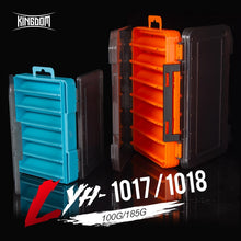 Load image into Gallery viewer, Kingdom Fishing Box 12 14 compartments Fishing Accessories lure Hook Boxes storage Double Sided High Strength Fishing Tackle Box