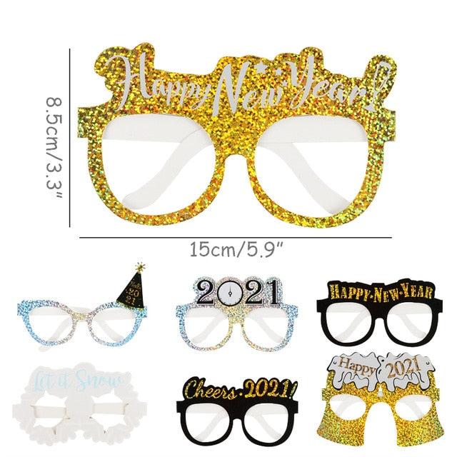 12pcs 2021 new year eve party supplies