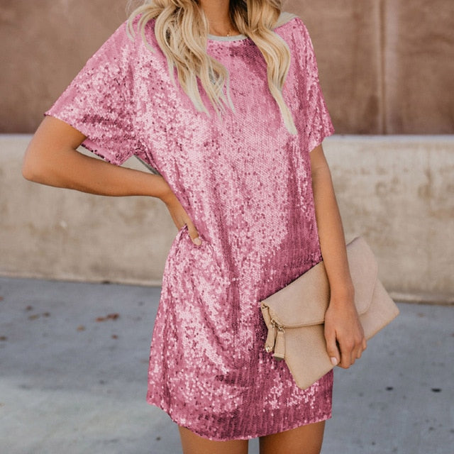 Southern Women Sequin Mini Dress