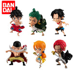 Lot de Figurines Luffy, Zoro, Nami, Ace, Shanks et Barbe Blanche | Figurines Mangas
