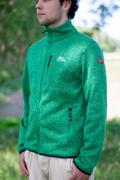 Nordberg Fleece Strickjacke Felix in grün