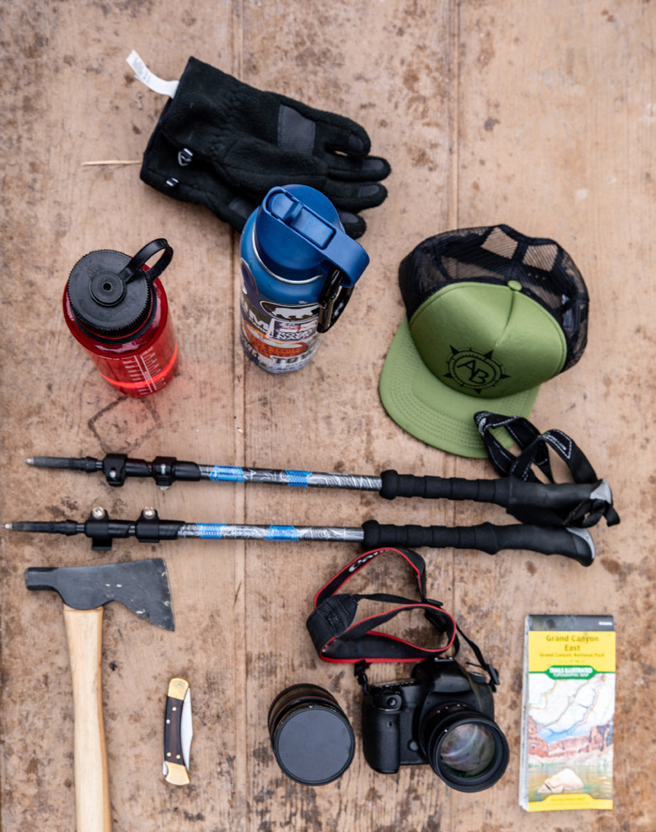 hiking and camping gear