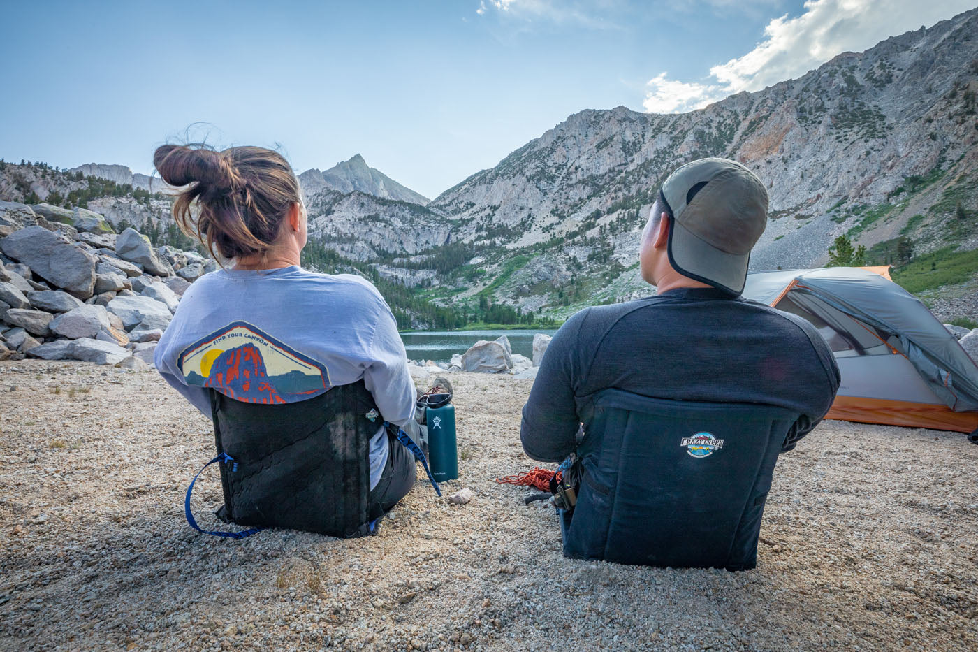 Enjoying the view in Crazy Creek chairs