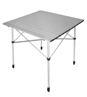 Crazy Creek roll up aluminum table folds up compactly in handy carrying bag.