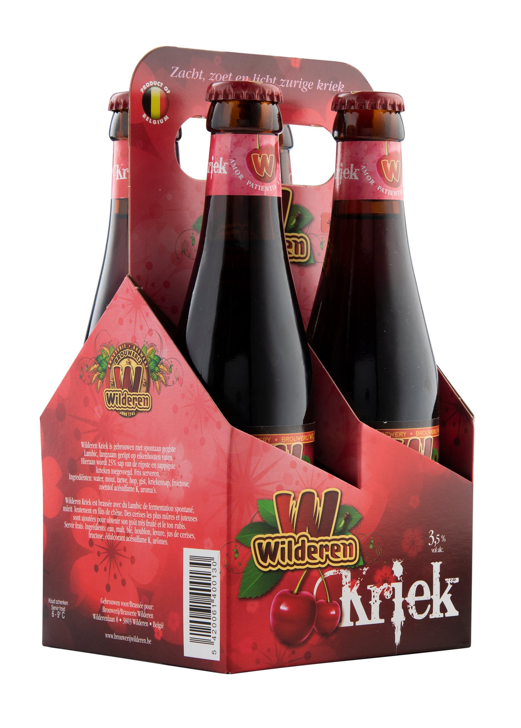 Wilderen Kriek 3,5% 4x25cl