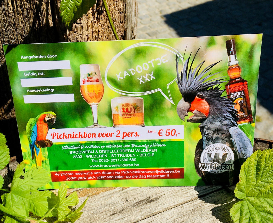 Brewery & Distillery Wilderen Picknick Voucher 2 pers.