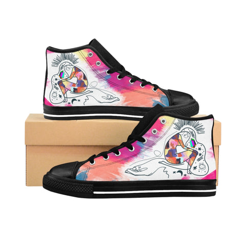 Women's High-top Sneakers Abstract Lady