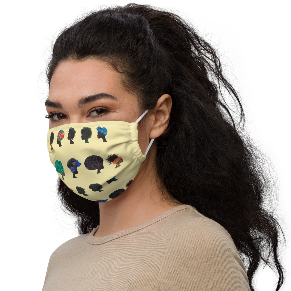 "Reusable Face Mask ""African Ladies"""