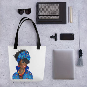 "Open image in slideshow, ""Jemila Beautiful Somalian"" Tote Bag"