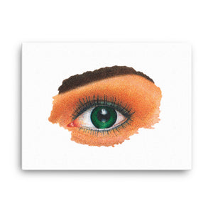 Open image in slideshow, Canvas of an Eye Colored Pointillism Dot-By-Dot Technique