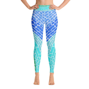 "Open image in slideshow, Leggings Yoga ""Blue African Rhythm"""