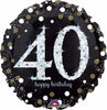 40TH BLACK/GOLD SPARKLY BIRTHDAY 18IN FOIL