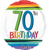 70TH RAINBOW FOIL BIRTHDAY-18""