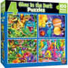 4 GLOW IN THE DARK PUZZLES