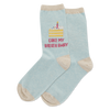 WOMEN'S CAKE MY BREATH AWAY CREW SOCKS