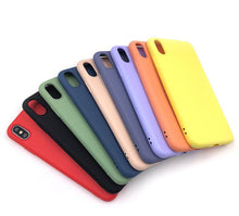 Load image into Gallery viewer, Liquid Silicone Shockproof Phone Case 9 Colors For iPhone 7/8/SE