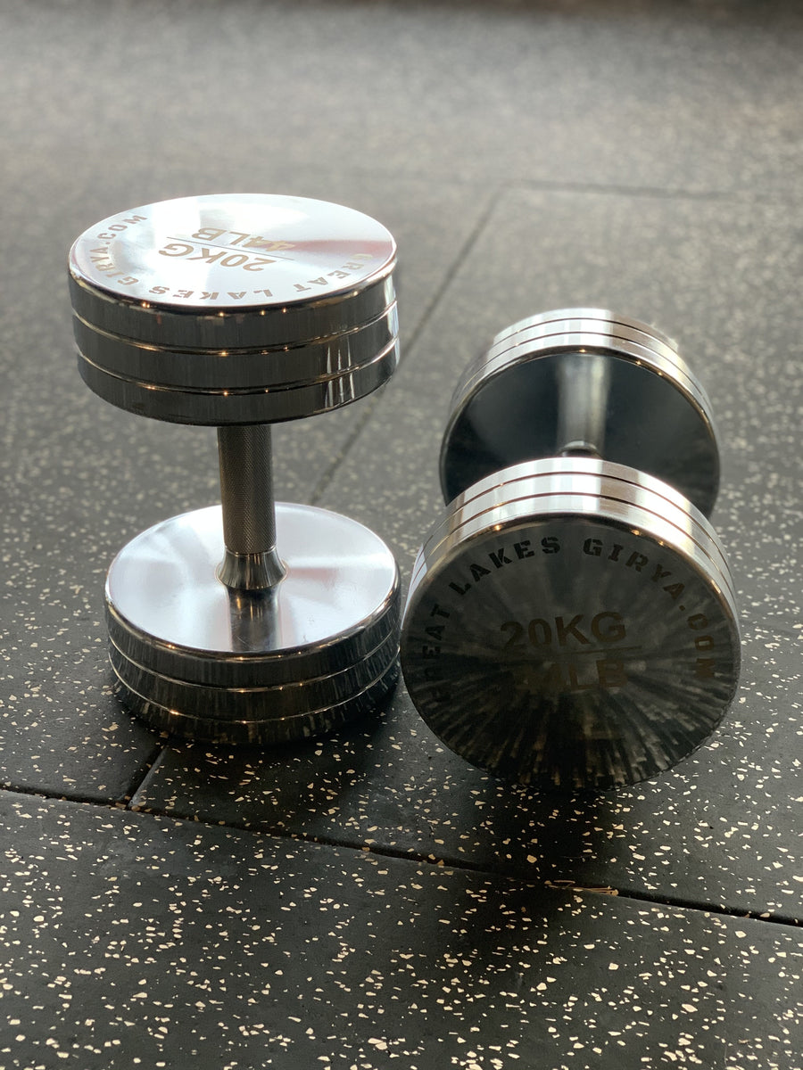 GLG chrome dumbbell set 2kg-20kg - Limited Edition