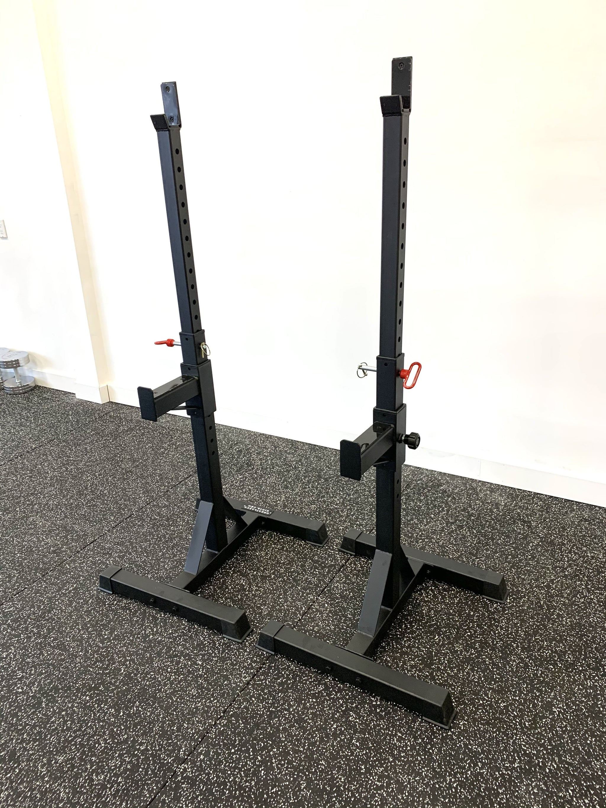 Heavy duty adjustable squat / bench stands