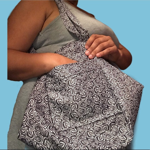 Leaf Print Hobo Bag