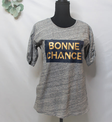 "J.Crew ""Bonne Chance"" Graphic T Shirt"