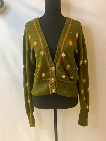 Neil Flowers Green Cardigan