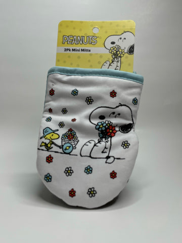 Peanuts  Flower 2pk Mini Oven Mitts