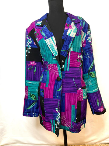 Willow Ridge Vintage Multi Colored Blazer