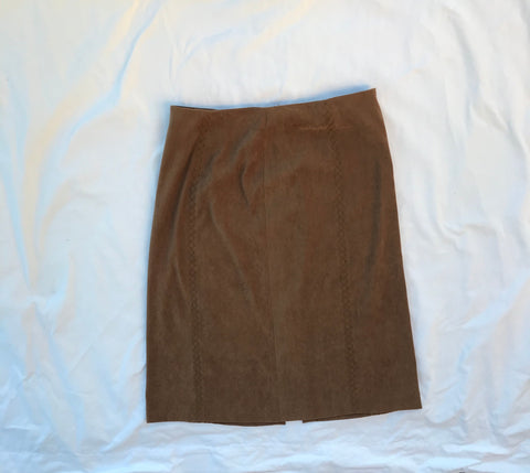 Vintage Talbots Stretch Faux Suede Skirt