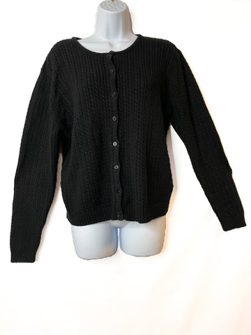 Black Button Down Vintage Cardigan