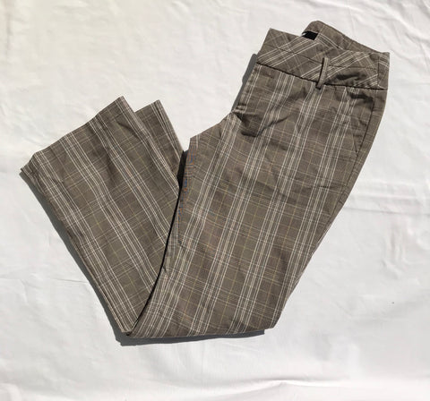 Plaid Stretch Pants