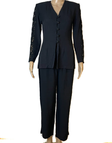 Sheri Martin Petites  2 Pcs Vintage Formal Business Suit