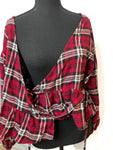 NWT Express Plaid Wrap Top