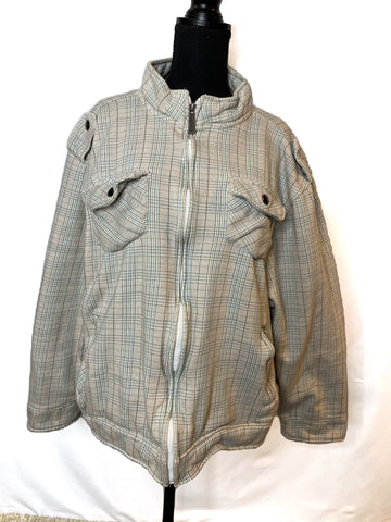 MK Machine Plaid Jacket SZ XL