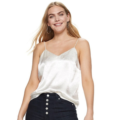 Women's Nine West Satin Layering Cami