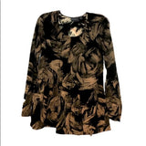 Simply Vera Swift Floral Long Sleeve Blouse