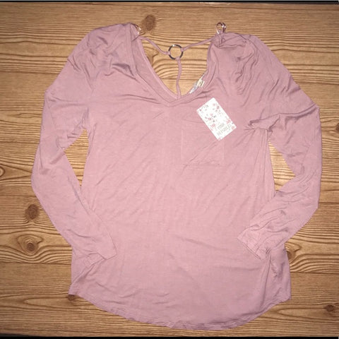 Pink Republic Dusty Mauve Long Sleeve Blouse