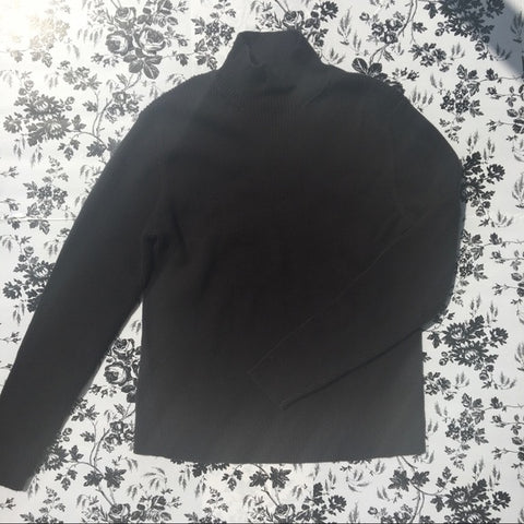Vintage Talbots Turtle Neck Black Shirt