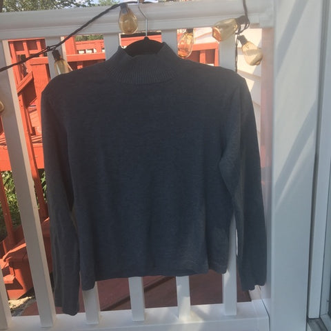 Vintage Talbots Turtle Neck Grey Shirt